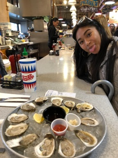 Oysters from Canada before the drive back to Manhattan!