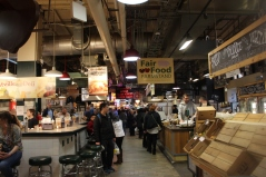 We ate at the Reading Terminal Market in Philadelphia, PA. It's an indoor market full of DELICIOUS food.
