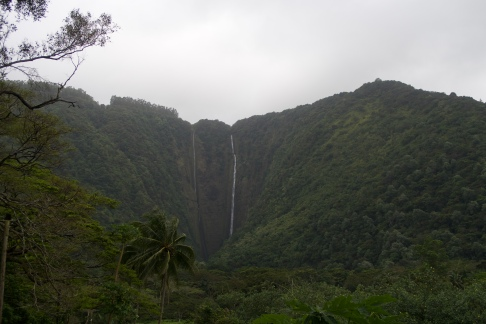 Hi'ilawe, the waterfall on the right.